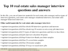 top 10 real estate sales manager interview questions and answers 1 638 jpg cb u003d1504882295