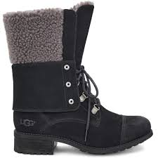 ugg womens cargo boots ugg australia s gradin combat boots lace up sheep fur