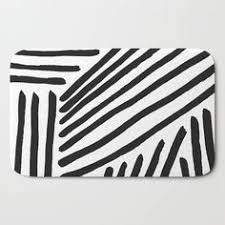 Black And White Bathroom Rug by Jacquardgeweven Badmat Zwart Wit Dessin Home H U0026m Nl