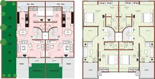 Small Row House Design Rowouse Plansome Design Floor Planning Square Foot In Sq Ft
