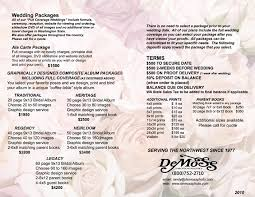 wedding packages prices wedding