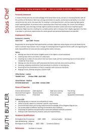 chef resume exles sous chef resume sle assistant executive steward junior cv