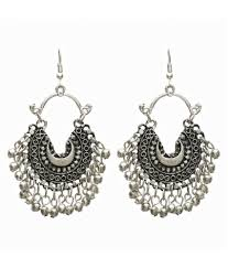 metal earings black metal afghani earrings for women tribal afghan boho