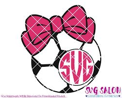 bow monogram soccer bow monogram svg cut file set for custom shirts