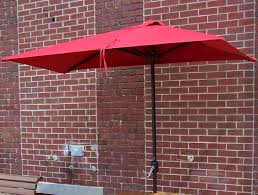 Red Rectangular Patio Umbrella Recycle Design Infinity Patio Series Commercial Site Furnishings
