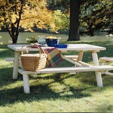 Picnic Table With Benches 31 Alluring Picnic Table Ideas