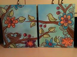 easy canvas paintings diy diy bedroom painting ideas home design