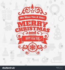 merry new year greetings badge stock vector 532601524