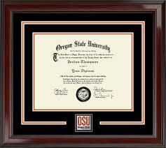 graduation frames with tassel holder oregon state diploma frames church hill classics