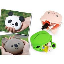 cartoon koala bear shaped animal friends silicone clasp coin purse