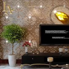 compare prices on diamonds wallpaper online shopping buy low european damask diamond wallpaper 3d stereoscopic modern luxury home decor living room glitter brown wall paper