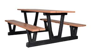 Site Table by Park Series Picnic Table Wishbone Site Furnishings