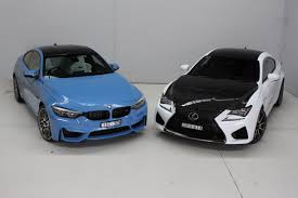lexus rcf vs f type head to head lexus rc f vs bmw m4 competition