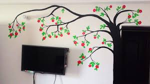 diy tree wall painting for diwali youtube