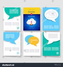 vector brochure design templates collection ad stock vector