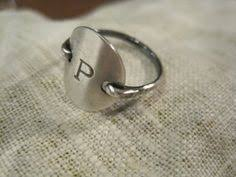 monogrammed rings silver sterling silver monogram ring by handmadenamenecklace on etsy