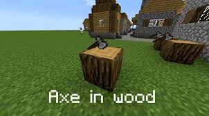 minecraft truck stop axe in wood armor stand tutorials videos show your