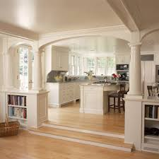room divider curtain rod ceiling room dividers kitchen traditional with wood flooring