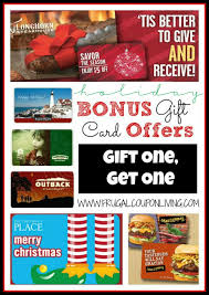 gift card offers 2017 christmas and bonus gift card offers