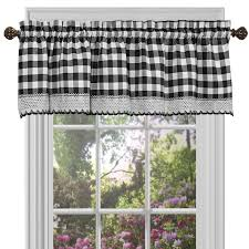 black white kitchen curtains shop amazon com window valances