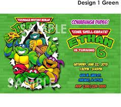 ninja turtle birthday invitation template