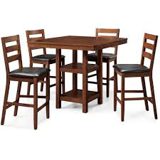 Wood Dining Room Tables And Chairs by Better Homes And Gardens Dalton Park 5 Piece Counter Height Dining