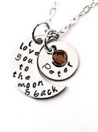 I Love You To The Moon And Back Personalized Necklace I Love You To The Moon And Back Personalized Necklace The Necklace