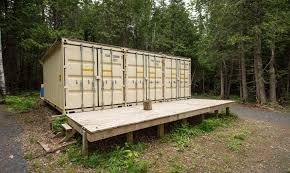 Cheap Hunting Cabin Ideas A Canadian Man Built This Off Grid Shipping Container Home For