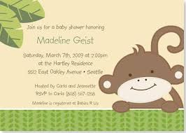 baby shower monkey free printable monkey baby shower invitation templates baby