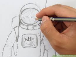 how to draw an astronaut with pictures wikihow