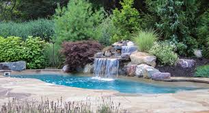 Ideas For Backyard by Landscaped Pool Pictures Landscape Design Ideas For Backyard With