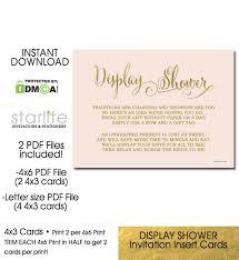 display shower card bridal shower invitation insert card