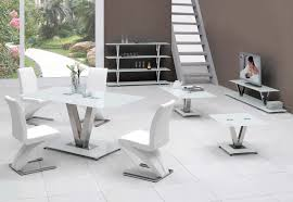 White Glass Extending Dining Table Beautiful V White Glass Dining Table Only 2882 Furniture In