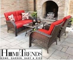 Tuscany Outdoor Furniture by Used Hometrends Tuscany Patio Set 4 Pc Wicker Red Patio
