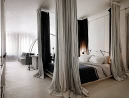 Hang Curtains From Ceiling Designs How To Hang Curtains From The Ceiling Around Bed Gopelling Net