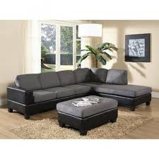 Leather Suede Sofa Fascinating Picture Of Living Room Decoration Using L Shape