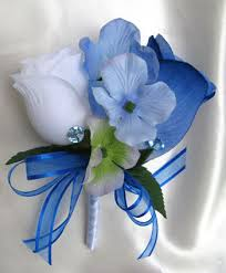 royal blue boutonniere royal blue white roses and dreams