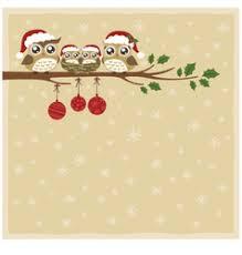 owl christmas owl christmas tree card royalty free vector image