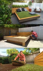 diy grass bed offers a cozy green oasis daybed living spaces