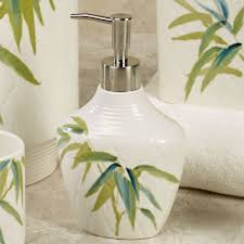 themed soap dispenser zen bamboo bath accessories