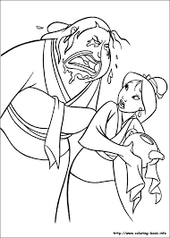 coloring dazzling mulan coloring book pages disney