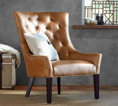 Armchair Leather Hayes Tufted Leather Chair Pottery Barn Au