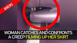Under Desk Cam by Young Woman Confronts