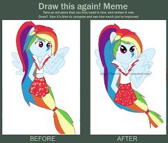 Mlp Rainbow Dash Meme - draw it again meme rainbow rocks rainbow dash by sparkle fly on