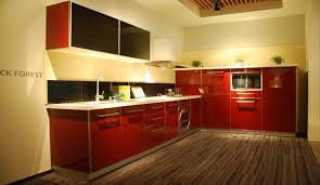 modern red and black uv lacquer kitchen cabinet nanjing olo home