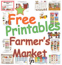 farmers market worksheets and activities for kids promoting the