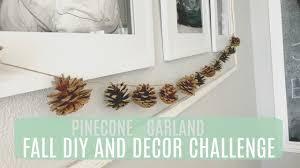 pinecone garland fall diy and decor challenge pinecone garland