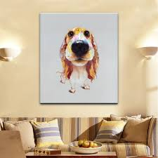 yhhp hand painted high definition long ears dog pictures to print