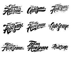 team awesome from hand lettered logotype to vector in adobe