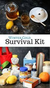 feel better care package ideas diy winter cold survival kit